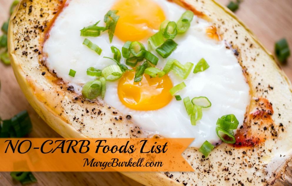 NO-CARB Foods List - SKINNY on LOW CARB - food recipes no carbs