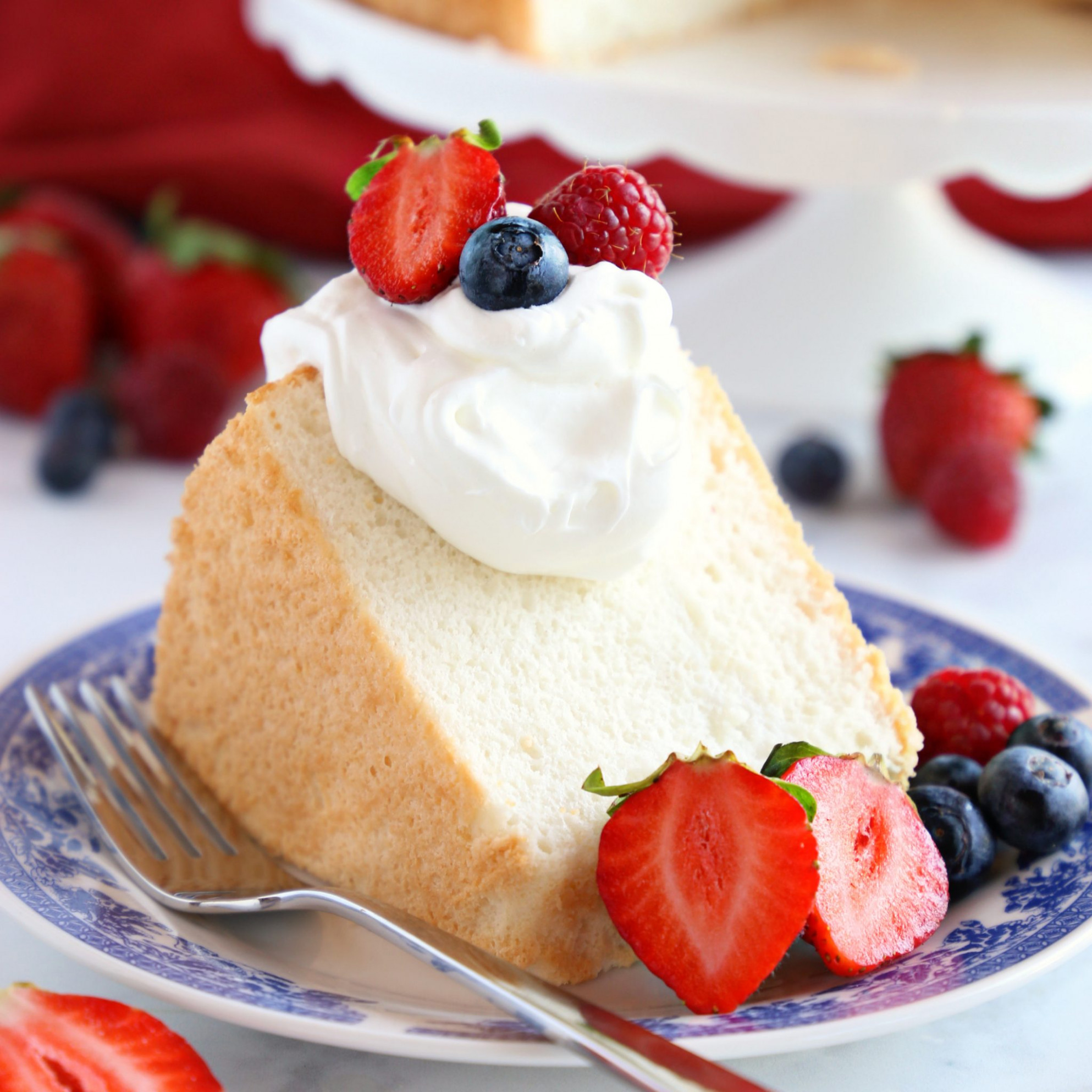 No Fail Homemade Angel Food Cake - The Busy Baker - recipes with angel food cake
