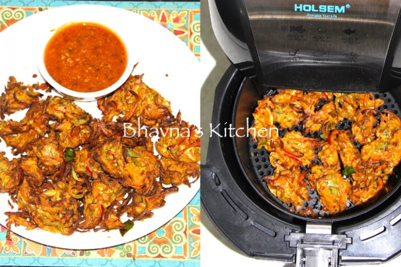 No Fry Pakore – Air Fried Vegetable Fritters – Bhavna's ..