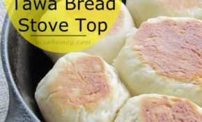 No Oven Bread Recipe – Chicken Filled Buns On A Skillet On ..