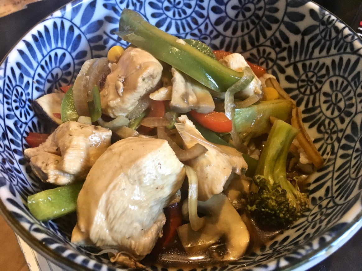"Nomr on Twitter: ""Chicken and Mushroom stir-fry from Pinch .."