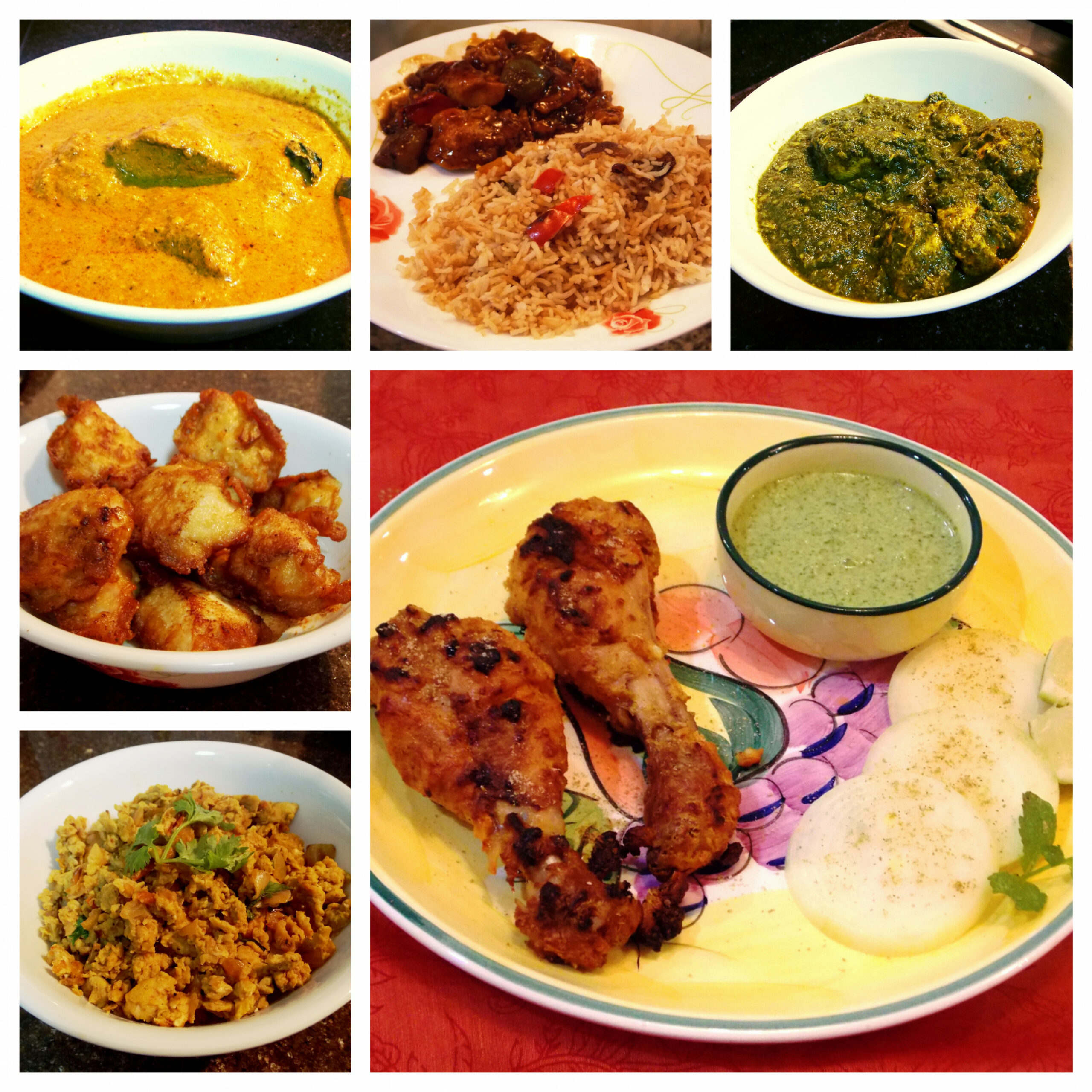 Non-Vegetarian – Collage – Platter To Palate – Indian Curry ..