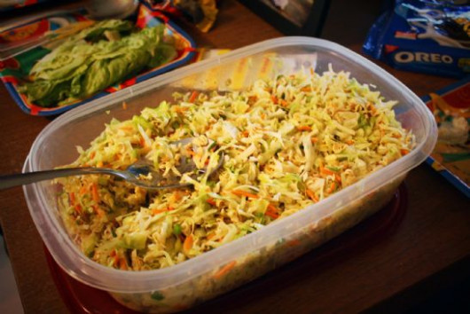 North Carolina Style BBQ Slaw Recipe | SparkRecipes - recipe vegetarian hamburger