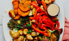 Oil Free Roasted Vegetables – Low Fat Recipes Vegetarian