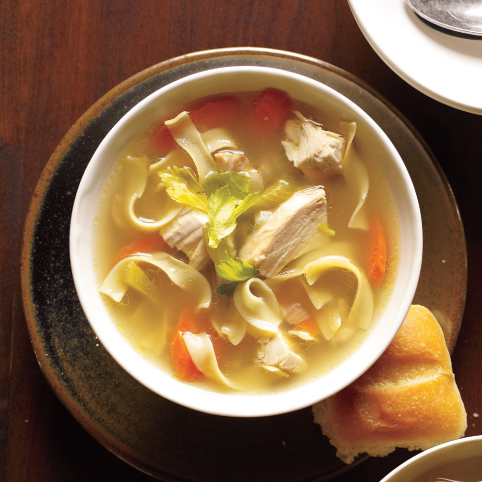 Old Fashioned Chicken Noodle Soup Recipe | MyRecipes - Chicken Noodle Soup Recipes