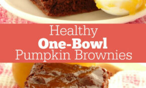 One Bowl Healthy Pumpkin Brownies Recipe. A Quick And Easy ..