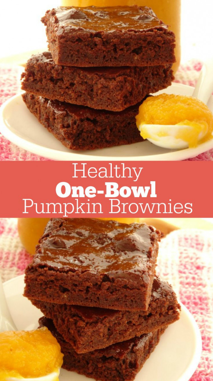 One-Bowl Healthy Pumpkin Brownies Recipe. A quick and easy ..