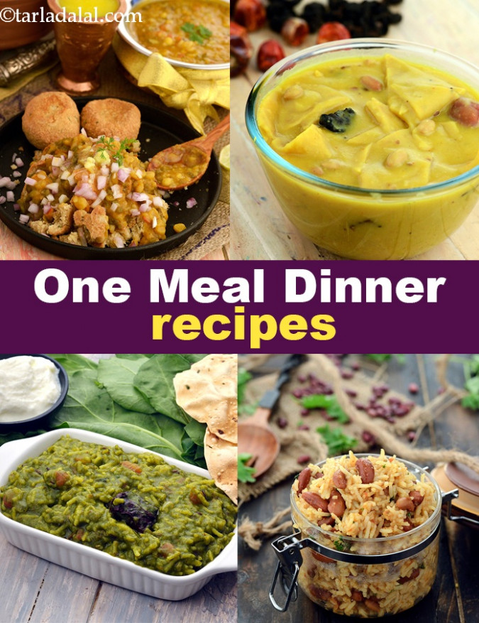 One meal Dinner Recipes, Indian One meal Dinner Ideas - recipes in hindi dinner