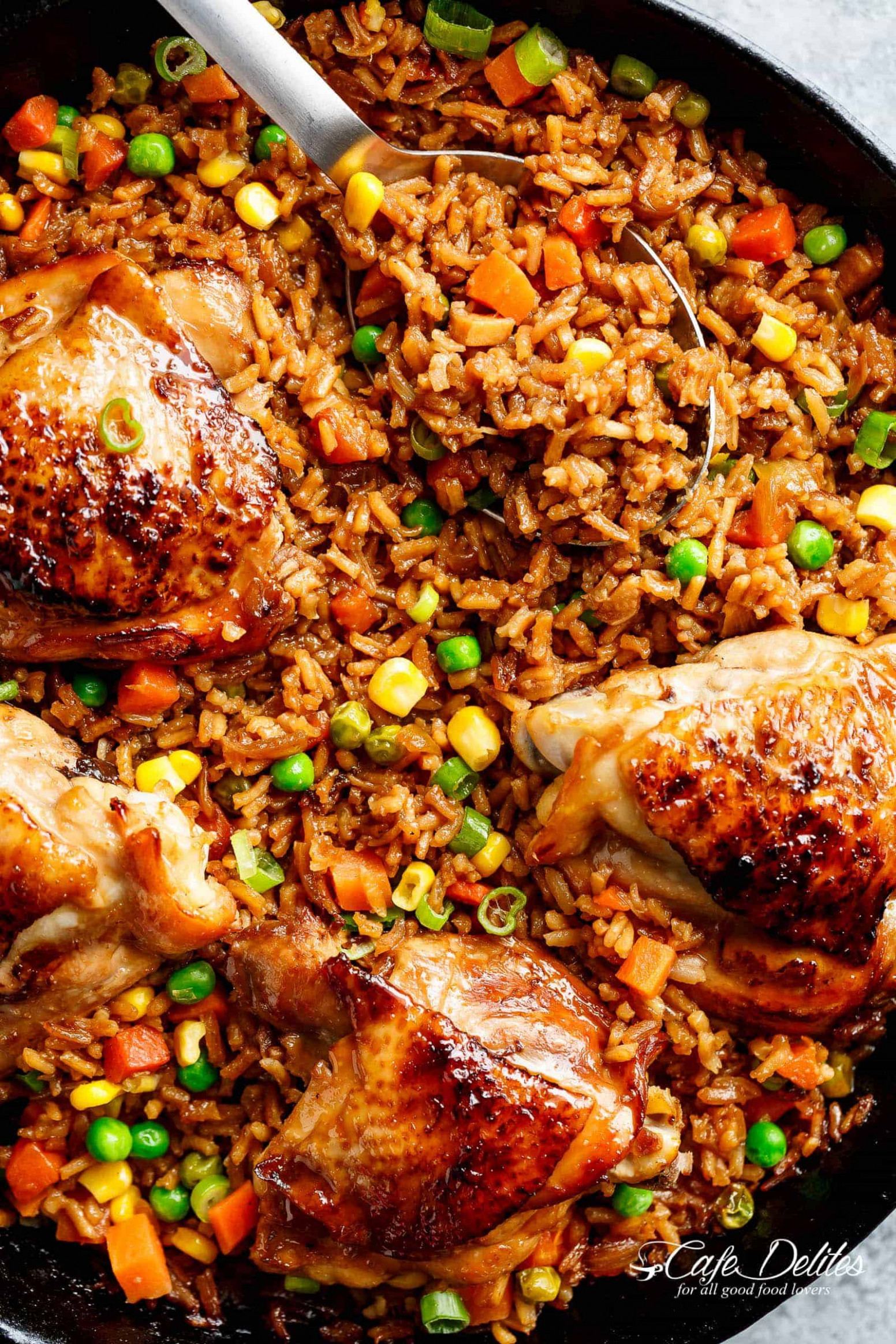 One Pan Asian Chicken & Rice - recipes rice and chicken