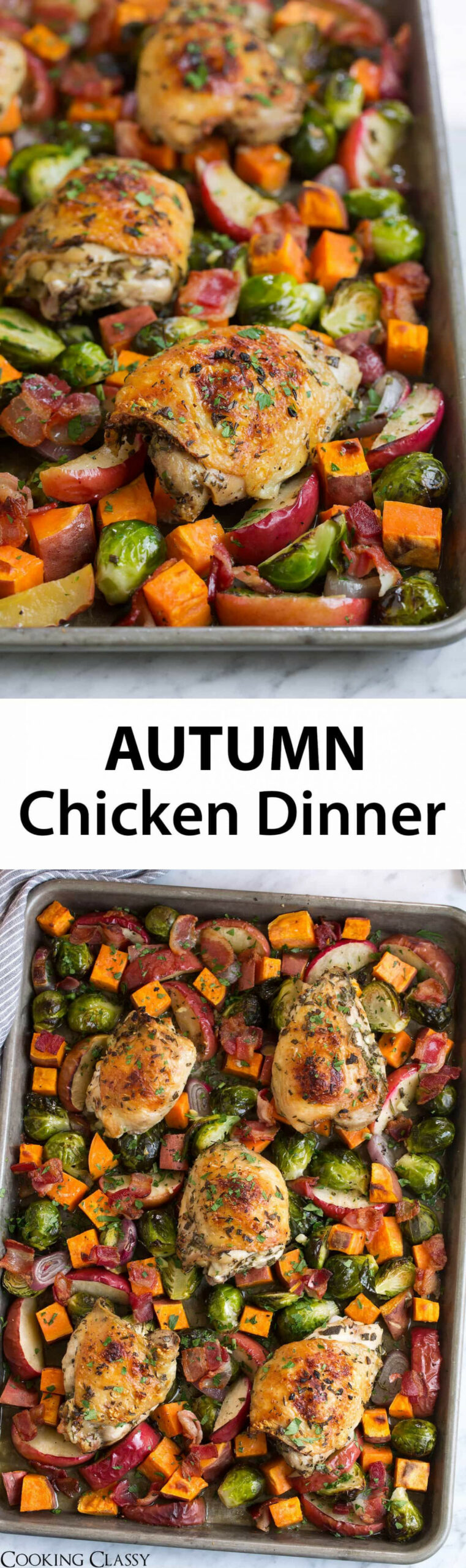 One Pan Autumn Chicken Dinner - one of my favorite fall ..