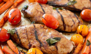 One Pan Balsamic Chicken And Veggies – I Heart Nap Time – Delicious Recipes Dinner