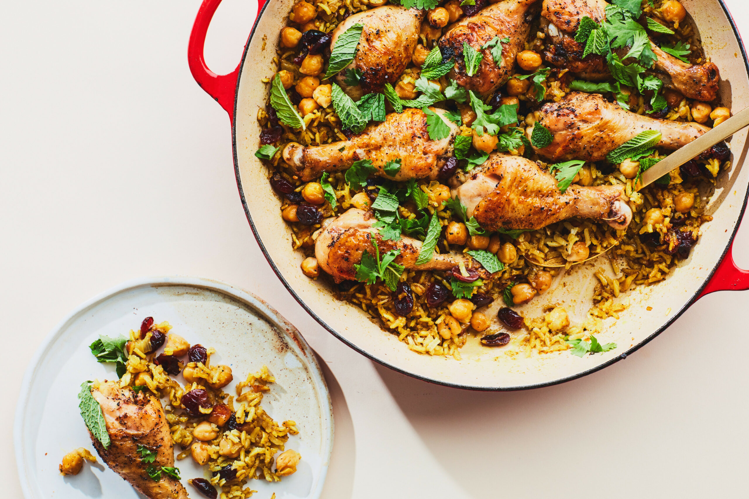 One-Pan Chicken Drumsticks with Rice and Beans - chicken recipes one pan