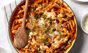 One Pan Chicken Parmesan Pasta – Chicken Recipes One Pan