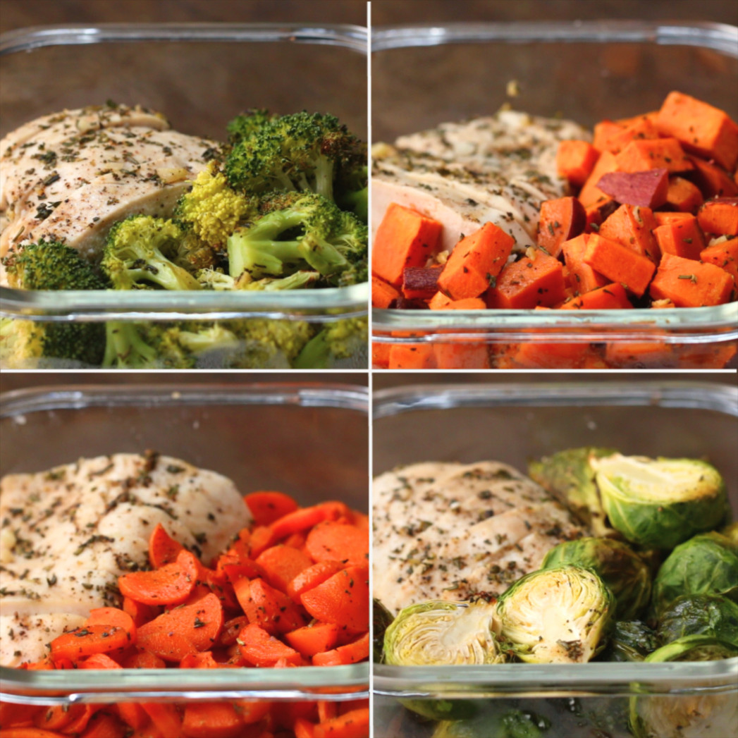 One-pan Chicken & Veggie Meal Prep Recipe by Tasty - chicken with vegetables recipes easy