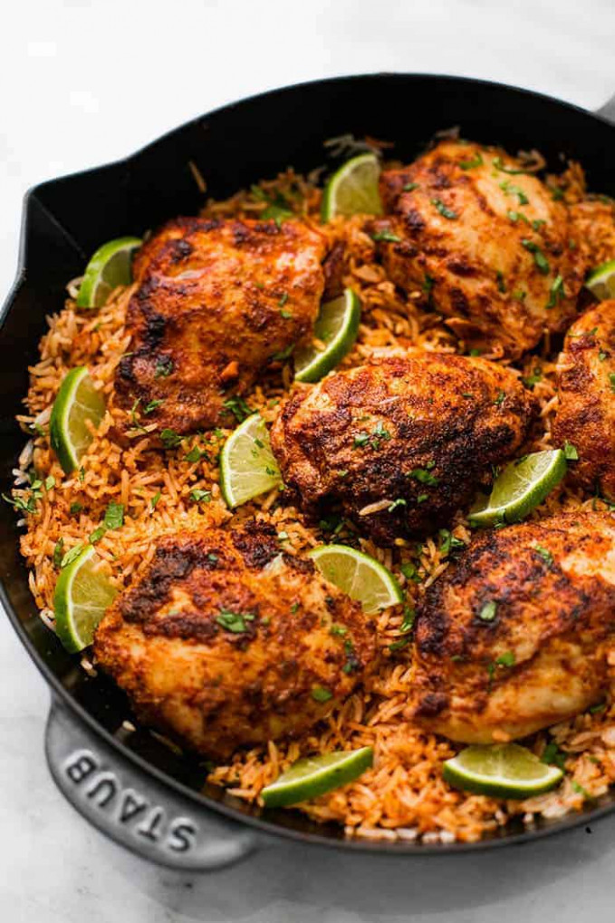 One Pan Chili Lime Chicken and Rice | The Recipe Critic - rice recipes chicken