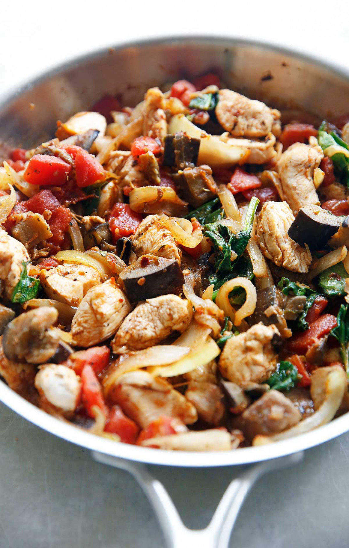 One-Pan Eggplant Dinner - recipes diced chicken breast