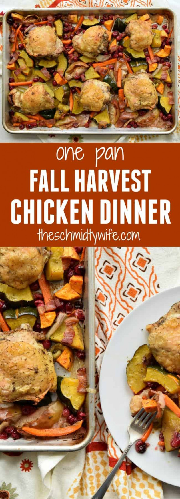 One Pan Fall Harvest Chicken Dinner - recipes dinner fall