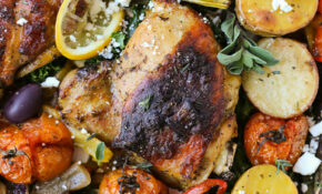 One Pan Greek Chicken – Swanky Recipes – Greek Recipes Chicken