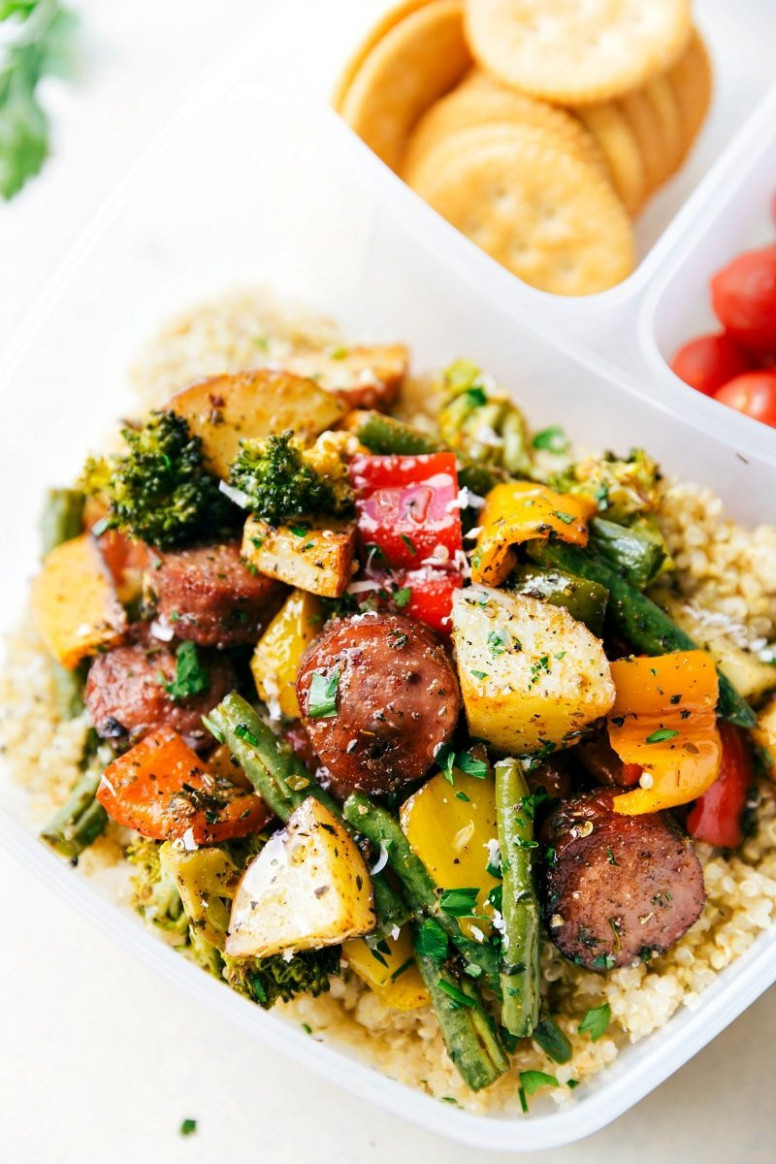 One Pan Healthy Sausage And Veggies | Chelsea's Messy Apron - Healthy Recipes Veggies