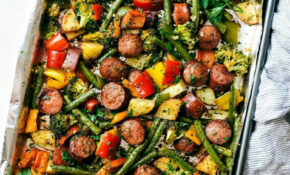 One Pan Healthy Sausage And Veggies – Healthy Recipes Roasted Vegetables