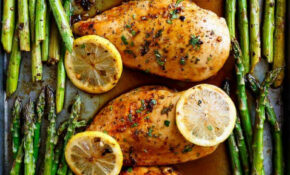 One Pan Honey Lemon Chicken Asparagus – Meal Prep Recipes Chicken Breast