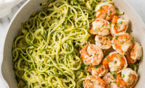 One Pan Lemon Garlic Shrimp And Zucchini Noodles – Dinner Recipes With Zoodles