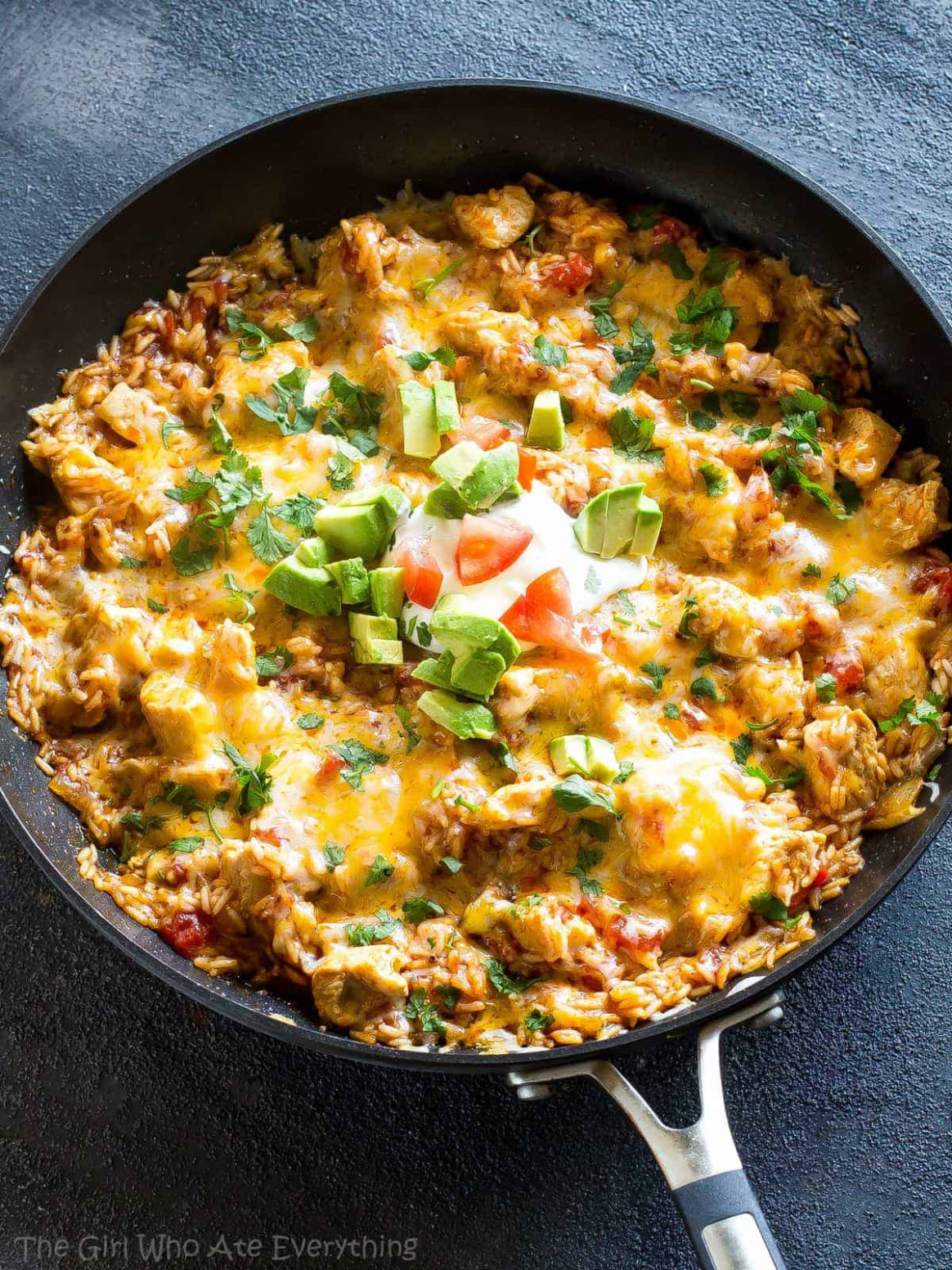 One Pan Mexican Chicken and Rice - recipes for dinner easy