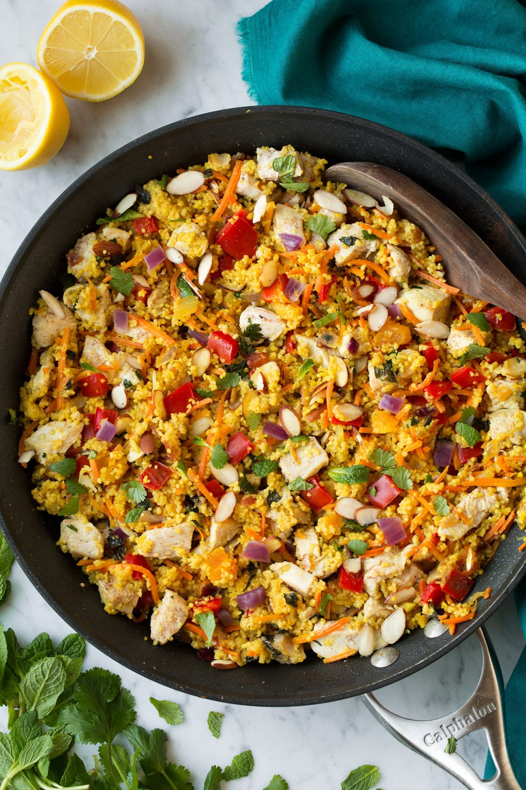 One Pan Moroccan Chicken and Couscous - chicken recipes one pan