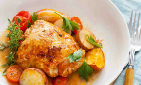 One Pan Paprika Chicken With Potatoes And Tomatoes Recipe |  SimplyRecipes