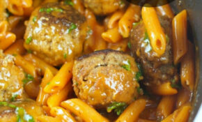 One Pan Pasta And Meatballs – Living Sweet Moments – Dinner Recipes With Frozen Meatballs
