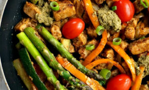 One Pan Pesto Quorn Meat Free Pieces With VeggieS – Recipes Quorn Chicken Pieces