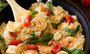 One Pan Shrimp And Basil Orzo/ Risoni Pasta | Adore Foods – Dinner Recipes One Pan