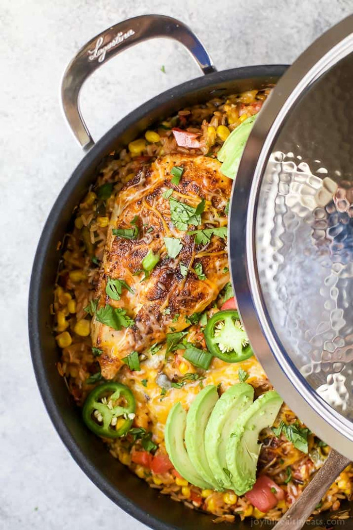 One Pan Southwestern Chicken and Rice | Easy Healthy Recipes - recipes of food easy