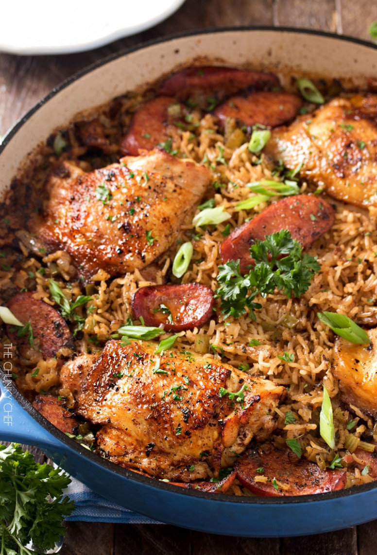 One Pot Chicken and Dirty Rice - one pot chicken recipes dinner party