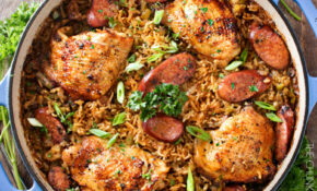 One Pot Chicken And Dirty Rice – The Chunky Chef – Chicken Recipes One Pan