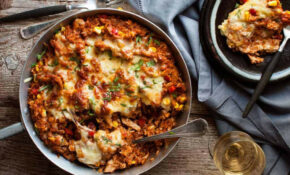 One Pot Chicken Enchilada Rice Casserole | RecipeTin Eats – Recipes Made With Shredded Chicken