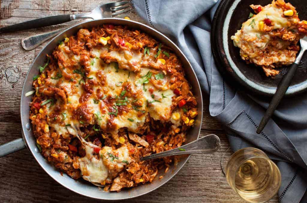 One Pot Chicken Enchilada Rice Casserole | RecipeTin Eats - recipes made with shredded chicken