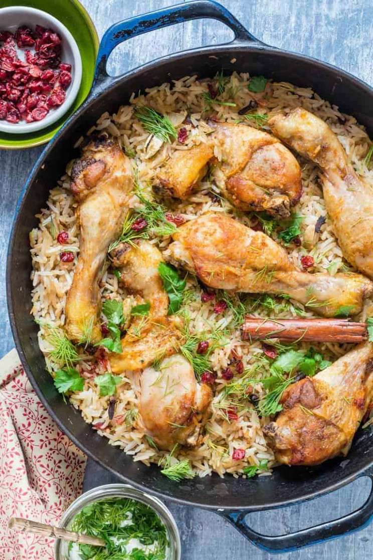 One Pot Chicken With Caramelized Onions, Cardamom And Barberry Rice - Chicken Recipes With Rice