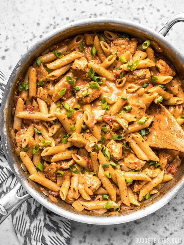 One Pot Creamy Cajun Chicken Pasta - Budget Bytes - recipes dinner pasta