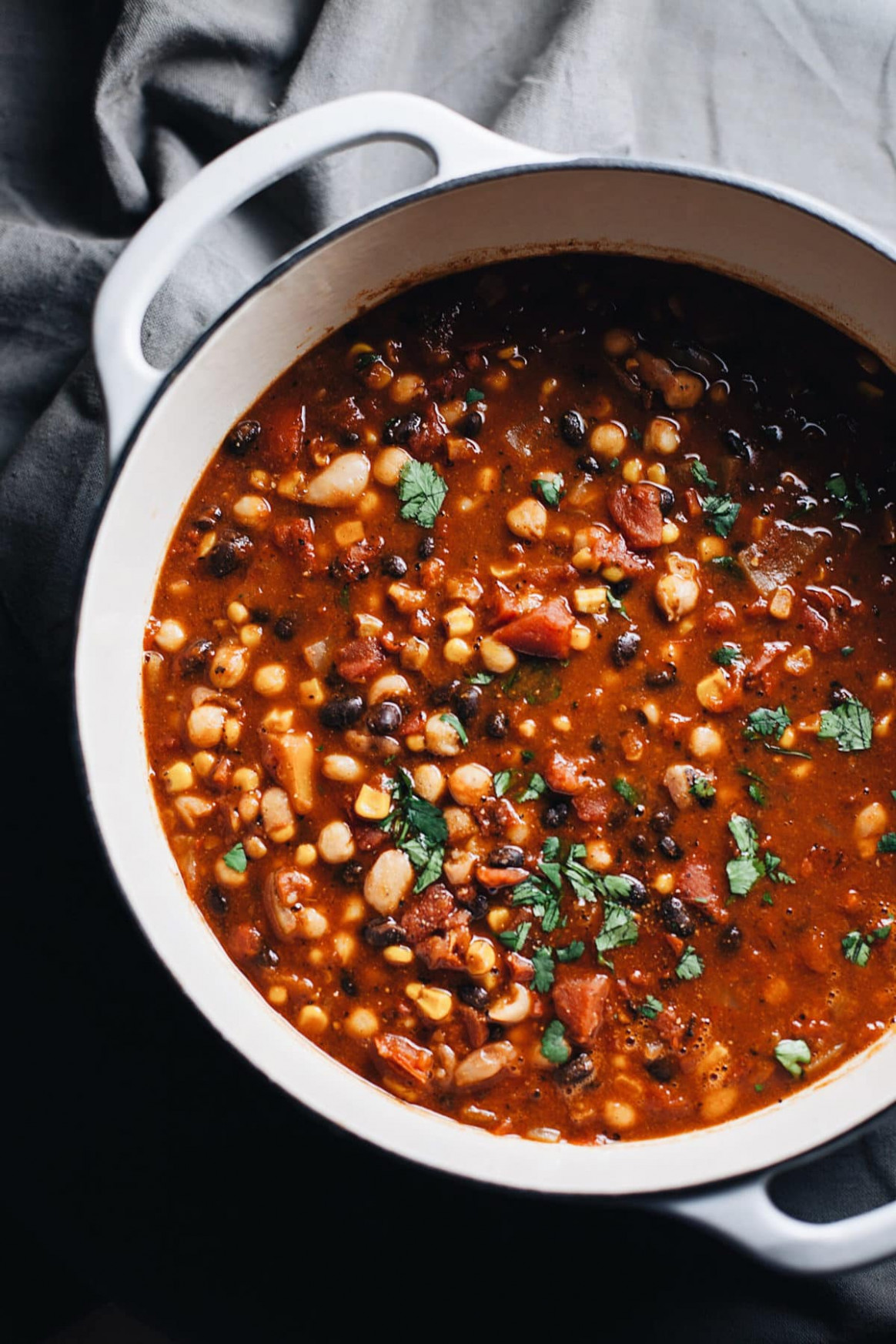 One Pot Healthy Vegetarian Bean Chili | A Simple Palate - healthy recipes vegetables