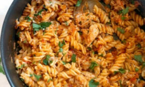 One Pot Leftover Roast Chicken Pasta – My Gorgeous Recipes – Leftover Roast Chicken Recipes