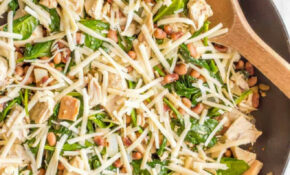 One Pot Low Carb Leftover Chicken Recipe With Spinach ..