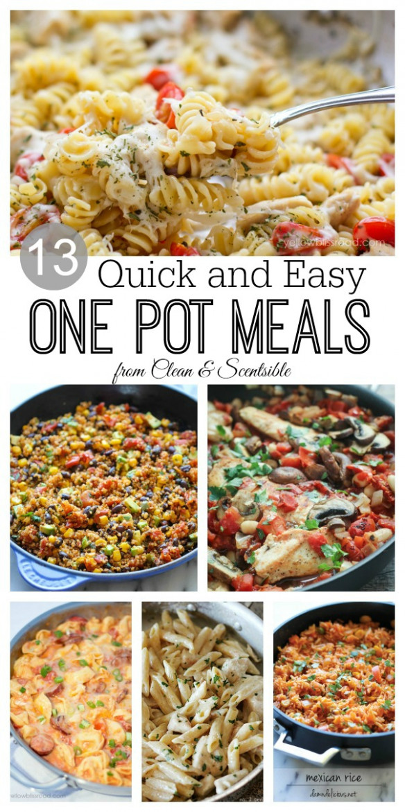 One Pot Meals - Clean and Scentsible - dinner recipes one pot