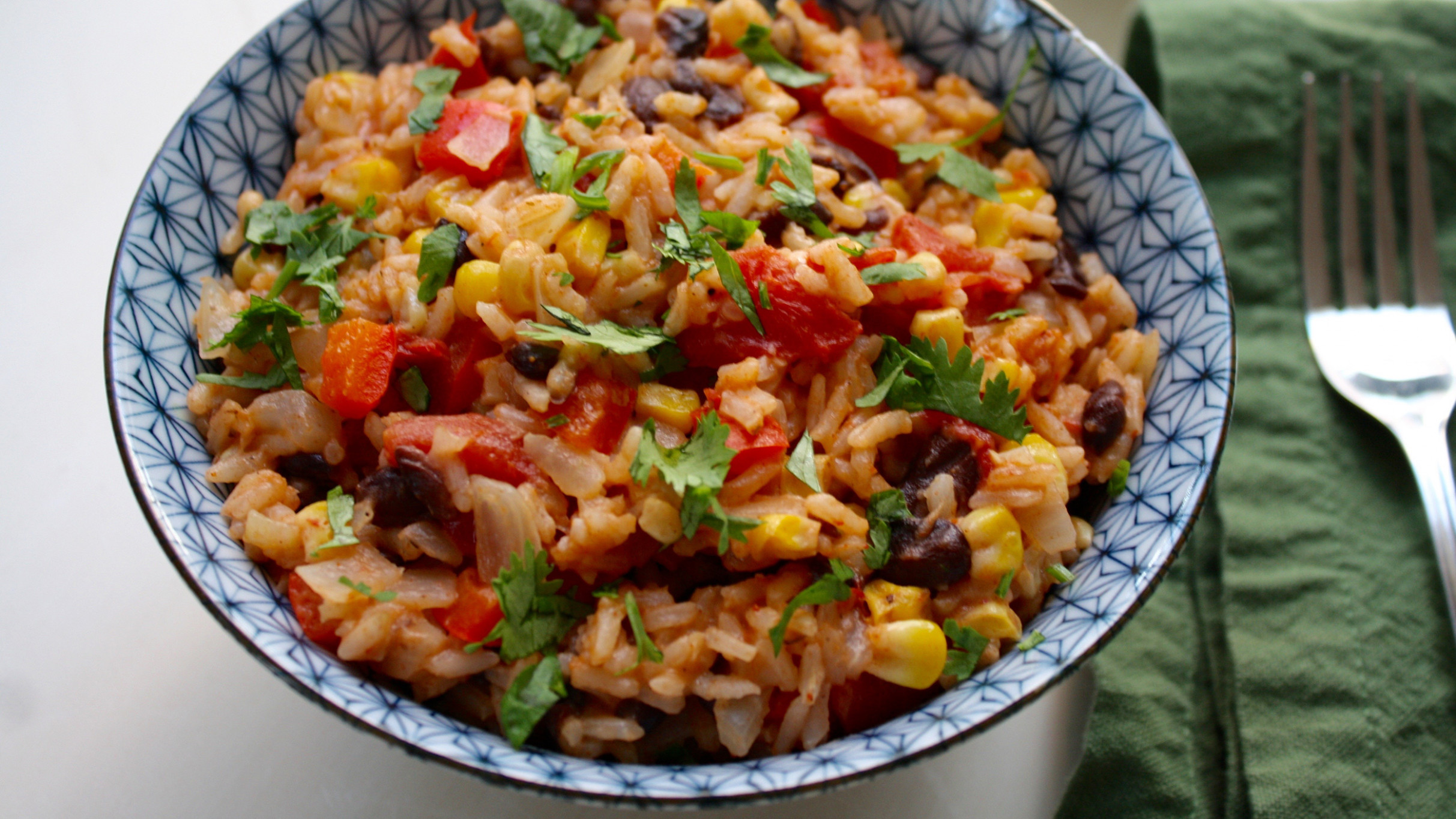 One-Pot Mexican Rice with Black Beans and Corn - black bean recipes vegetarian