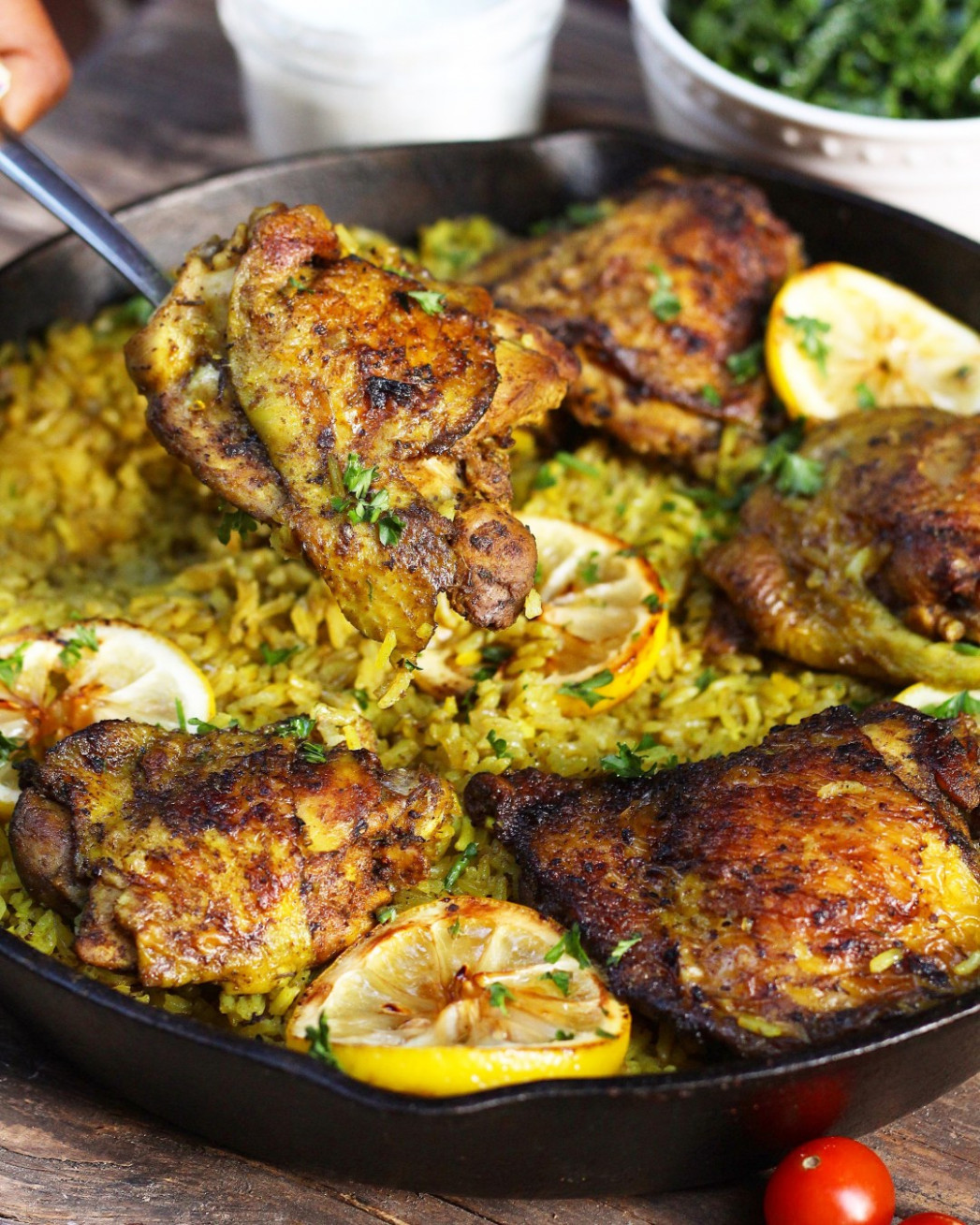 One Pot Middle Eastern Chicken and Rice - Ev's Eats - middle eastern recipes chicken