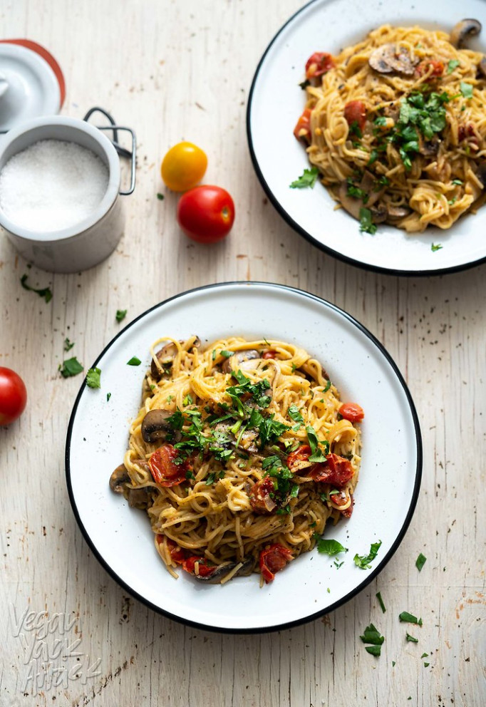 One Pot Mushroom Spaghetti - Dinner Recipes One Pot