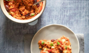 One Pot Pasta And Pearl Barley Bake With Preserved Lemon, Capers And Olives – Barley Recipes Vegetarian