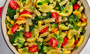 One Pot Pasta Primavera – Fusilli Pasta Recipes Vegetarian