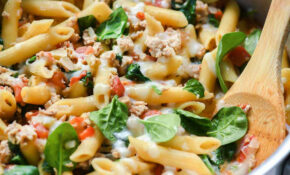 One Pot Penne Pasta With Turkey And Spinach – Healthy Recipes For One