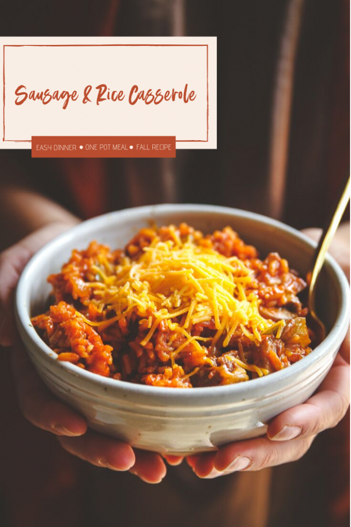 One Pot Sausage and Rice Casserole - Sweetphi - dinner recipes one pot